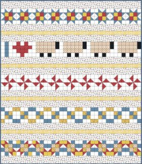 "2"" Row Quilt for Border Panels"