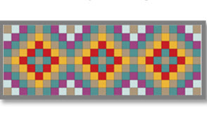 Mosaic Table Runner (link to layout and instruction PDF)